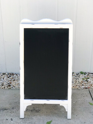 Double Sided Easel White Chalkboard