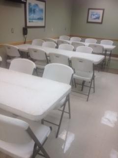 Heavy Duty White Folding Chair