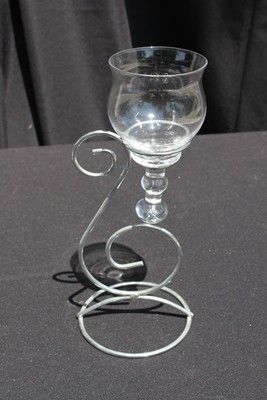 1L Silver Swirl with Teardrop Glass