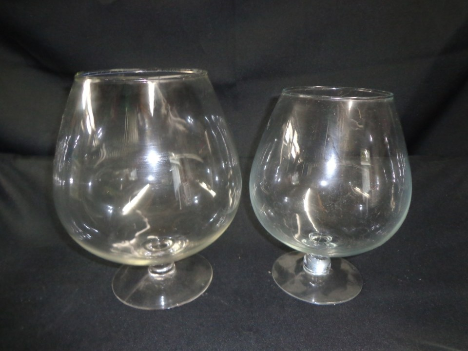 Brandy Snifter Glass Vase 10