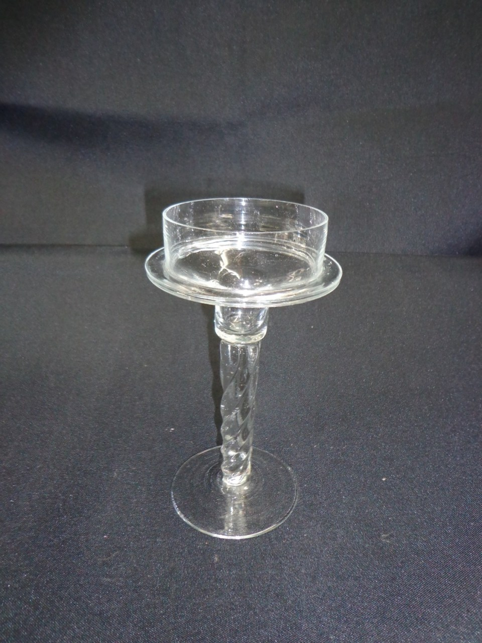 Candle Holder Glass - For Pillar Candle 7.5