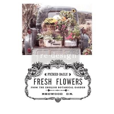 Prima Decor Transfer: Fresh Flowers