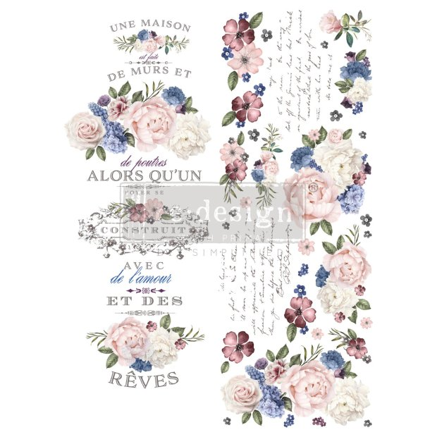 Prima Decor Transfer: Lavender Bush (NEW!) Lavender Bush