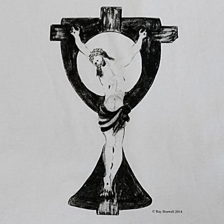 Jesus icon. White t-shirt detail.