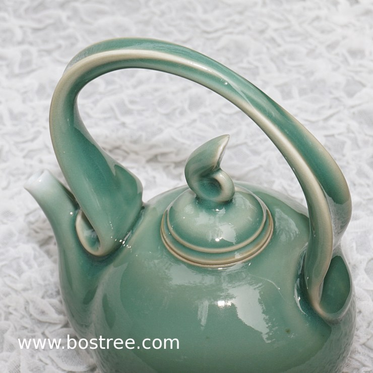 4) Celedon teapot by Andy Boswell. Porcelain.