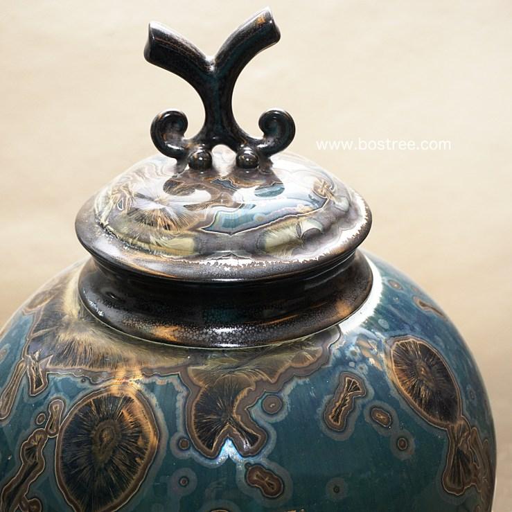 Crystalline Glaze Lidded Vessel by Andrew Boswell