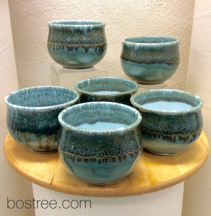 handmade porcelain celadon bowls