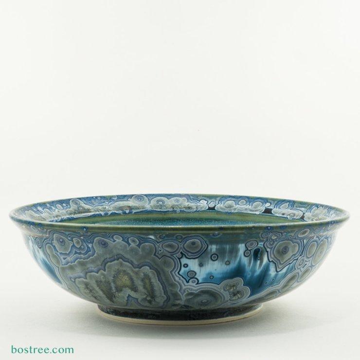 Crystalline Glaze Serving Bowl by Andy Boswell #ABB0033b ABB0033b