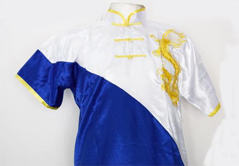 Uniforme de Wushu Chang Chuan Azul/Blanco 00190