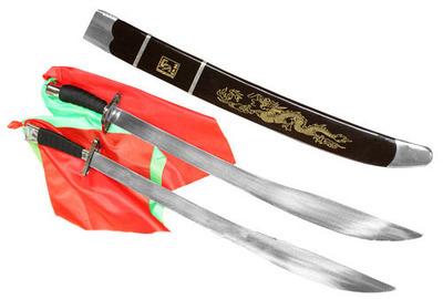 Sables Dobles Rigidos de Kung Fu Wu Shu