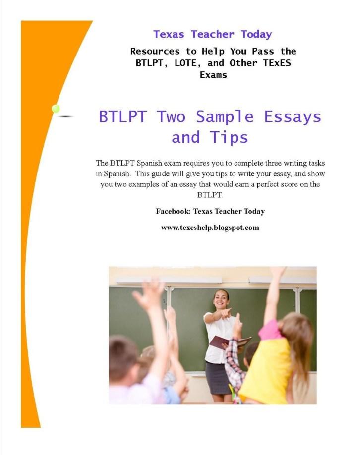 BTLPT 2 Example Essays and Tips