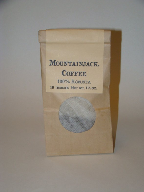 Mountainjack® Coffee---Pkg. of 10 tbags:  $7.00 + Shipping 464