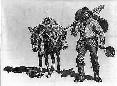 Mountainjack® Coffee logo, showing mountain-man and mule.