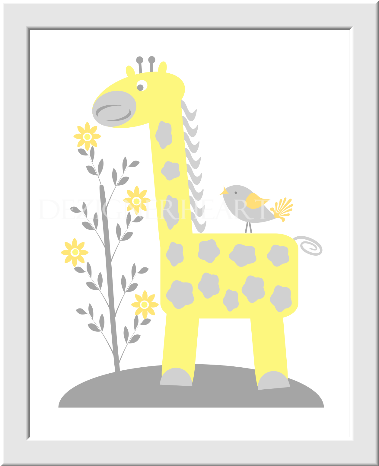 Yellow And Gray Baby Wall Art - feddebcdeeefedad nursery decor grey ...