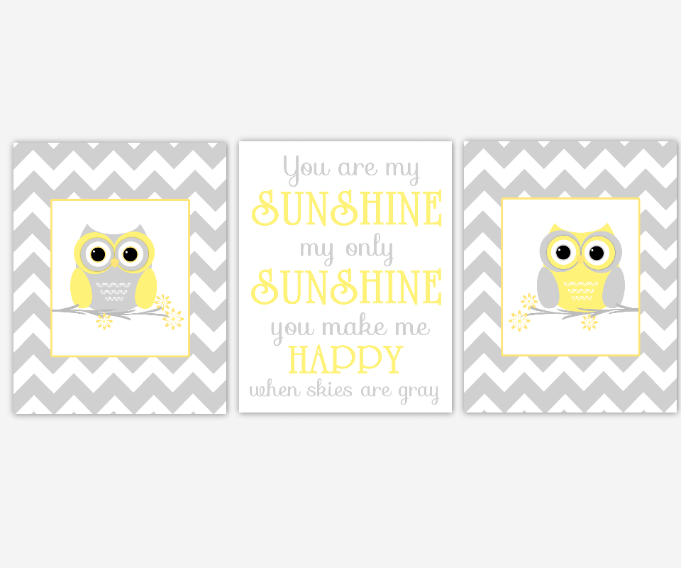 yellow baby nursery decor