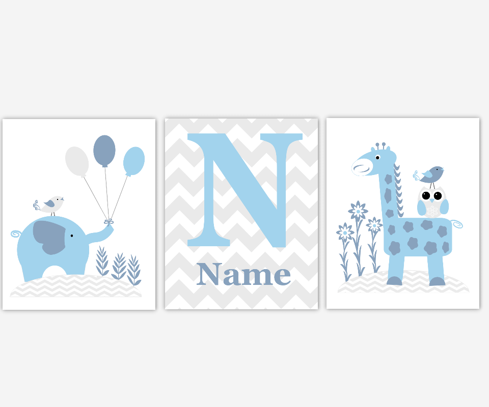 baby boy nursery wall