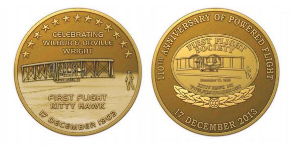 110th Anniversary Commemorative Medallion Coin 0001