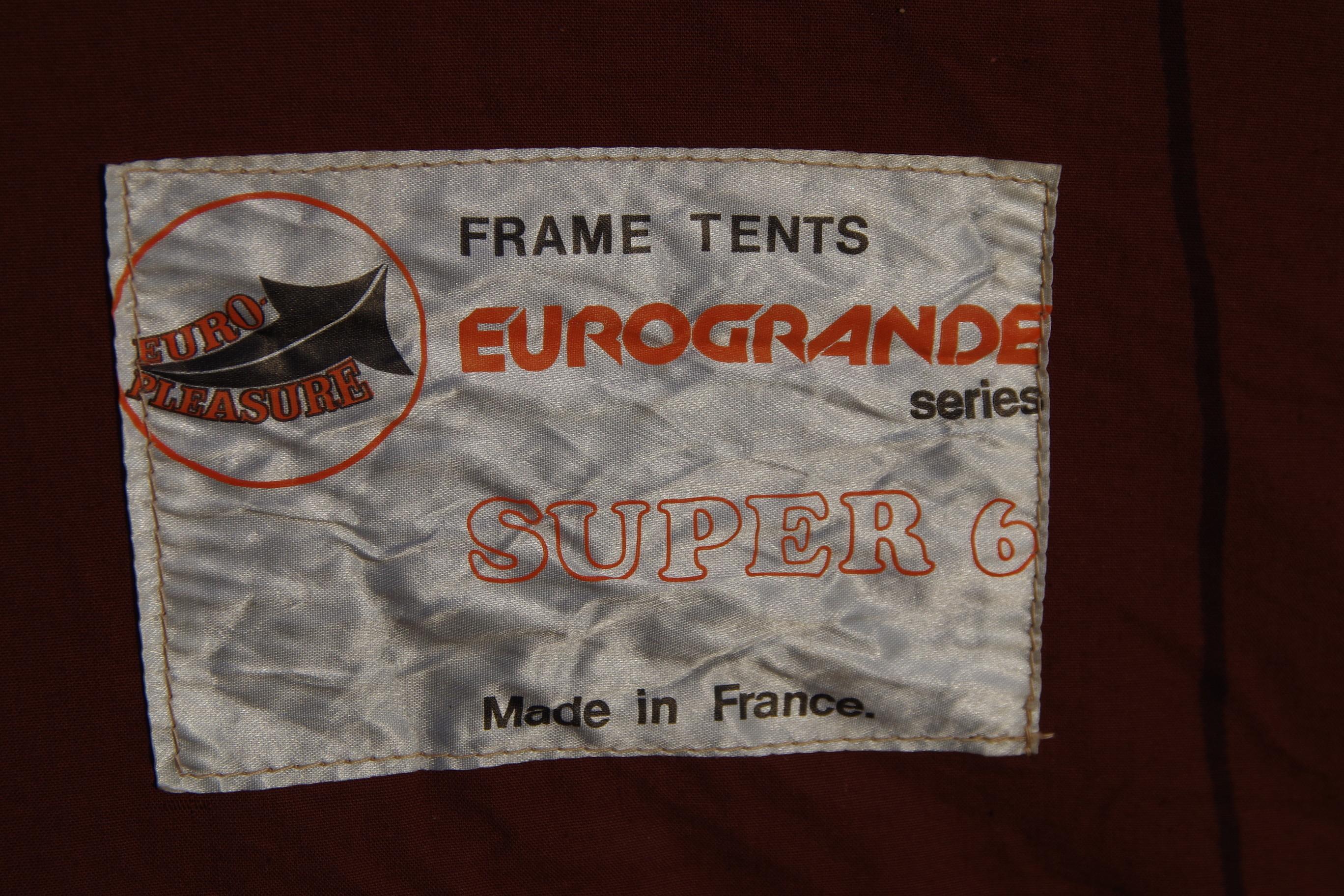 フランス製 Eurogrande Super 6 6人用フルコットンテント マルシャルOEM