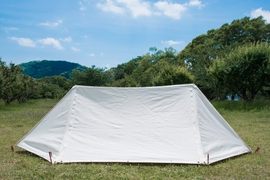 パジャマムーン オリジナル商品 LUKE 1 ダックキャンバス製 ホワイトパップテント カスタム可能