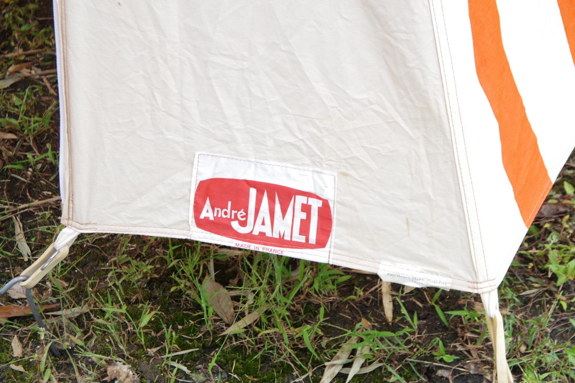 アンドレジャメット ピクニックテント ヴィンテージ幕 フレームテント デッドストック Andre Jamet