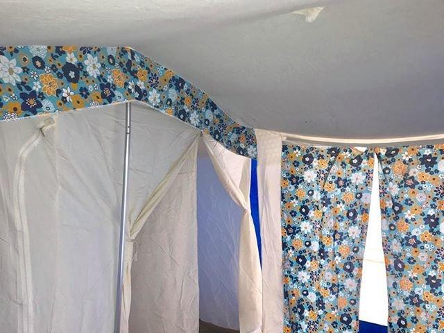 ラクレ リッツ5人用 ミントブルー 極上美品 ヴィンテージ幕 フレームテント Raclet Ritz