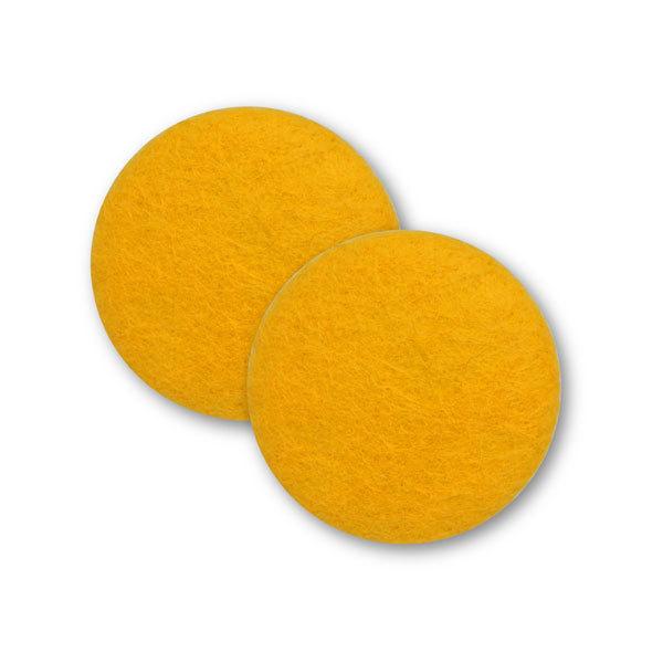 Sæt af 2 knapper til design-selv puder / Gylden gul 5003