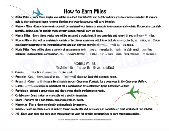 Vanishing Voices Practice Incentive Theme - How to Earn Miles Overview