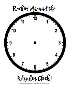 Free Rhythm Clock Worksheet 20180112