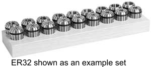 """Techniks Ultra Precision ER-40 13 Piece Collet Set - Inch Set 1/8"""" - 1"""" by 16ths UP04213IS"""