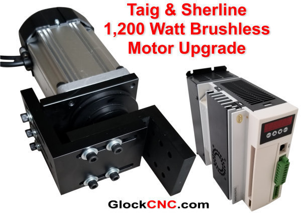 Sherline & Taig Brushless Motor Upgrade 1,200 Watt CNC Controllable GM1200