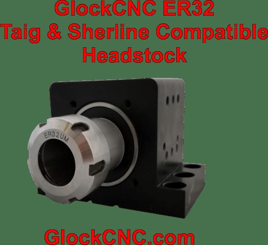 Sherline Taig Lathe-Mill Headstock Upgrade ER32 Spindle GBER32