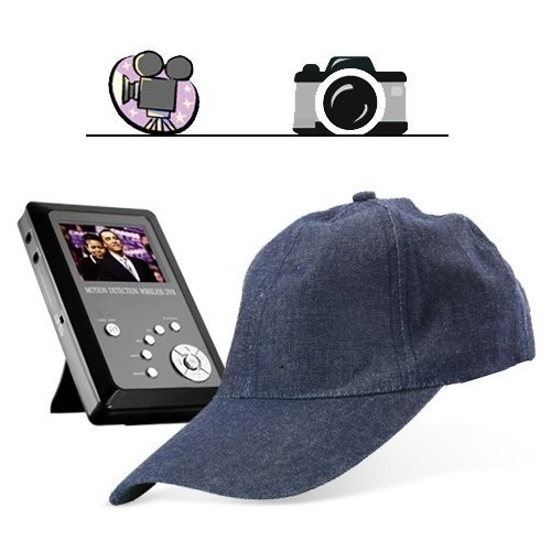 Cap-shaped Spy Camera Hidden camera with Wireless Receiver kit