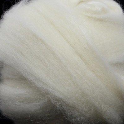 BFL/Kid Mohair Top - White