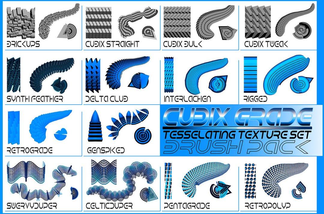 Cubix Grade- Tesselating Texture Set / Asset Package