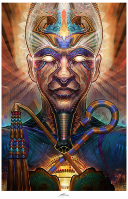 Osiris Risen - 26 in. by 17 in. Signed Paper Print