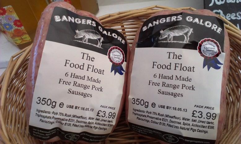 6 hand made farm assured pork sausages (350g)