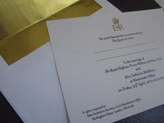 Royal Wedding Invitation Souvenir Reproduction elf1064