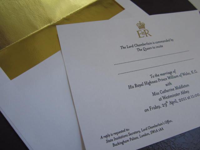 Royal Wedding Invitation Souvenir Reproduction elf1064