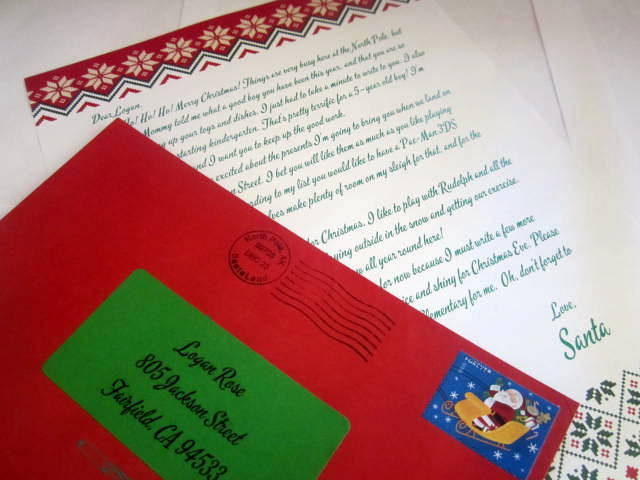 Letter from Santa Claus elf1046