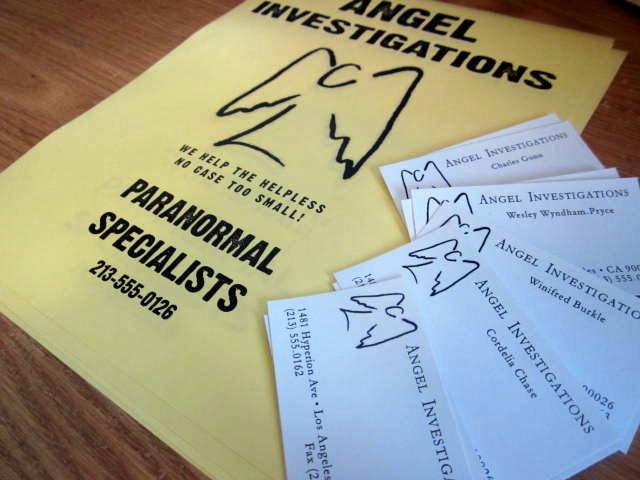 Angel Investigations Business Cards & Flyer elf1004