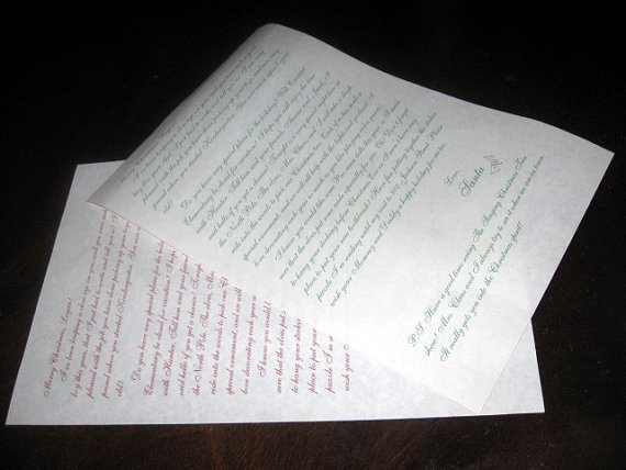 11 x 17 letter from Santa