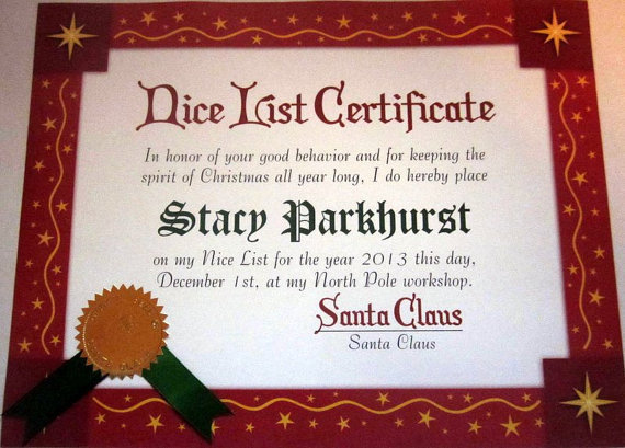 Red with Stars Certificate