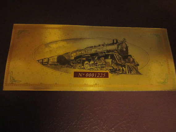Side 2 Christmas Express Train Ticket