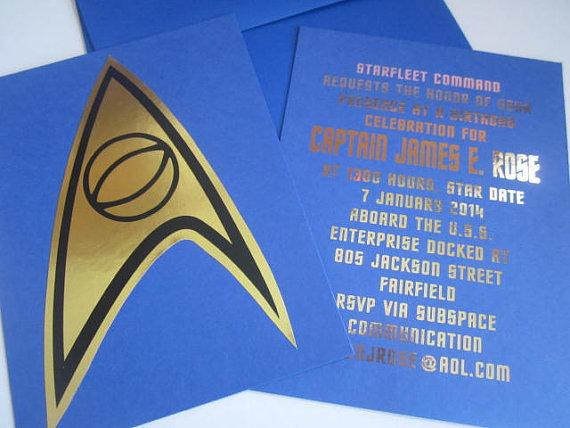 Blue Insignia notecard or invitation