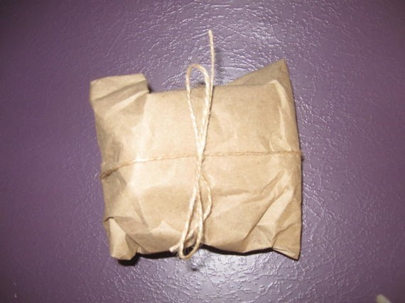Grubby little package with Philosophers Stone inside