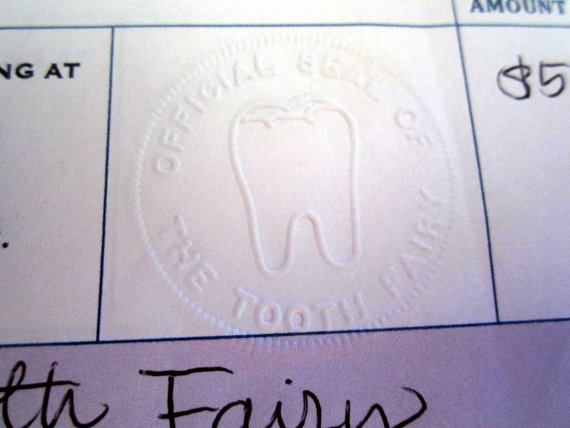 Tooth Fairy embossed seal