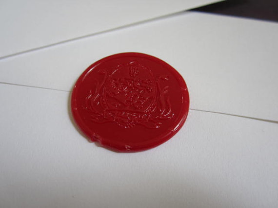 Twilight invitation Cullen crest wax seal