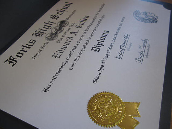Ywilight Forks High School Diploma
