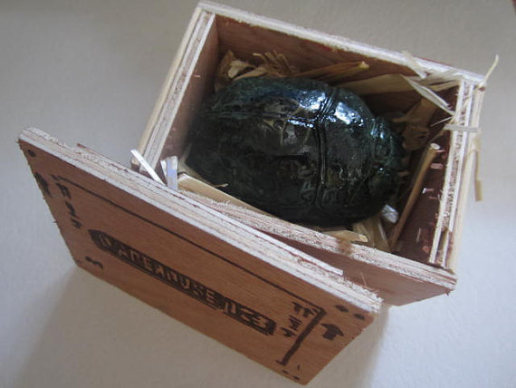 Warehouse 13 Scarab in crate