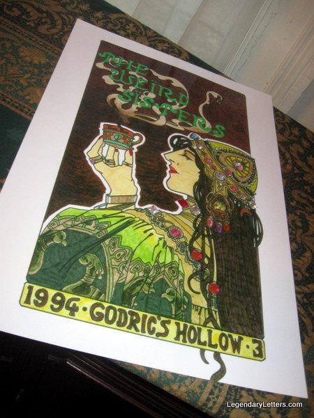 Godrics Hollow Weird Sisters poster